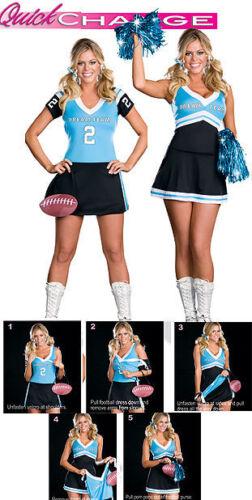 Dreamgirl USA 6475 NEW 2 in 1 Dream Team Cheerleader Schoolgirl Costume S L