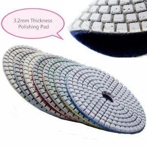 Details About 8 Inch Diamond Flexible Polishing Pad 11 Stone Terrazzo Granite Marble Lapidary