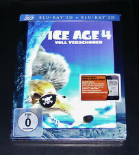 ICE AGE 4 VOLL VERSCHOBEN IN 3D STEELBOOK EDITION BLU RAY 3D + 2D NEU & OVP