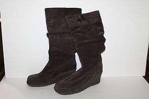 Skechers Soho Lab Knee Boots, #30630, Brown, Leather, Womens US Size 8.5