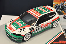 TAMIYA 1/10 RC CASTROL HONDA CIVIC VTi 185mm Clear Body PANDORA D-Like YOKOMO