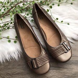 New Clarks Women/'s Propose Pixie 2 Flats Black 7