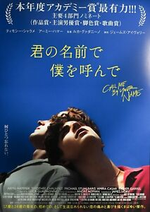 Call Me By Your Name 2017 Luca Guadagnino Japan Chirashi Mini Movie