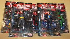 DC Direct Collectibles Unmasked Superman Batman Red Hood Joker Batgirl Martian