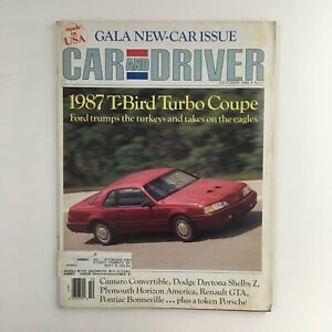 Car and Driver Magazine October 1986 T-Bird Turbo Coupe & Camaro Convertible