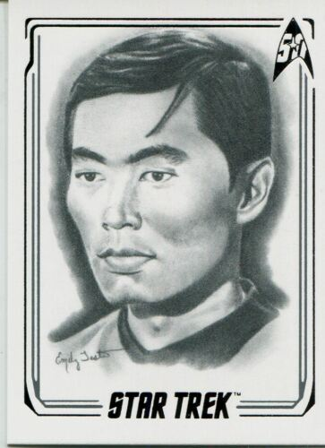 Star Trek 50th Anniversary Sulu 2017 Artifex Chase Card 6 Lt