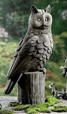 Concrete / Cement Statue Mold  Large owl on log  Latex Rubber / Fiberglass