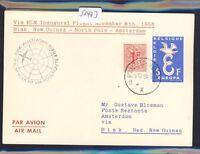 51473) KLM Polar FF Biak - Amsterdam 8.11.58, Karte ab Belgien