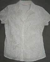 Bonmarche Womens Blouse - Size 14 - white with black sports - New