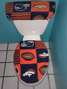 Fabulous Details About Denver Broncos Squares Fleece Toilet Seat Cover Set Clearance Sale Andrewgaddart Wooden Chair Designs For Living Room Andrewgaddartcom