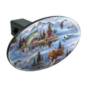 Always Take the Scenic Route Hiking Travel Oval Tow Hitch Cover Trailer Plug Insert 2