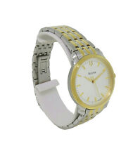 Bulova 98L160 Women's Round Brushed Silver Tone Analog Stainless Steel Watch