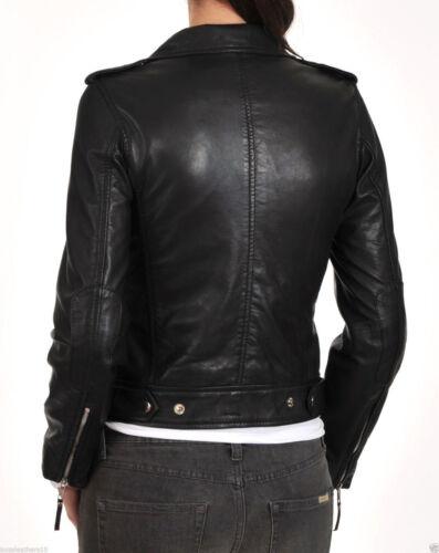lammeskind Slim Soft læderjakke Fit Kvinders mj ægte 08 Motorcycle 7wqCaxz