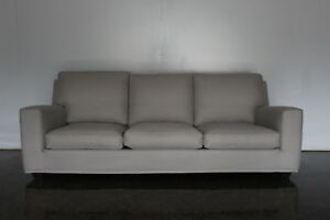 Image Is Loading Superb Mint Minotti 3 Seat Sofa In Neutral