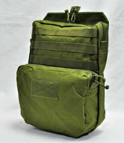 Airsoft Assault Back Panel pouch molle MC green  coyote tactical type 3 MBSS