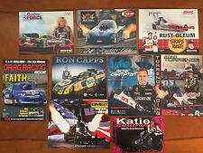Drag Racing Edge Mag V.1 #3 & 8 NHRA Drag Racing Driver Large Action Photo Cards