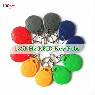 100Pcs Lot 125Khz RFID Proximity ID Card Token Tags Key Keyfobs Access Control