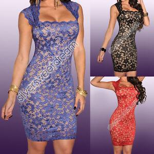 ce8961e27f La imagen se está cargando Vestido-Verano-Mujer-Elegante-Noche-Efecto-Chica -Desnudo-