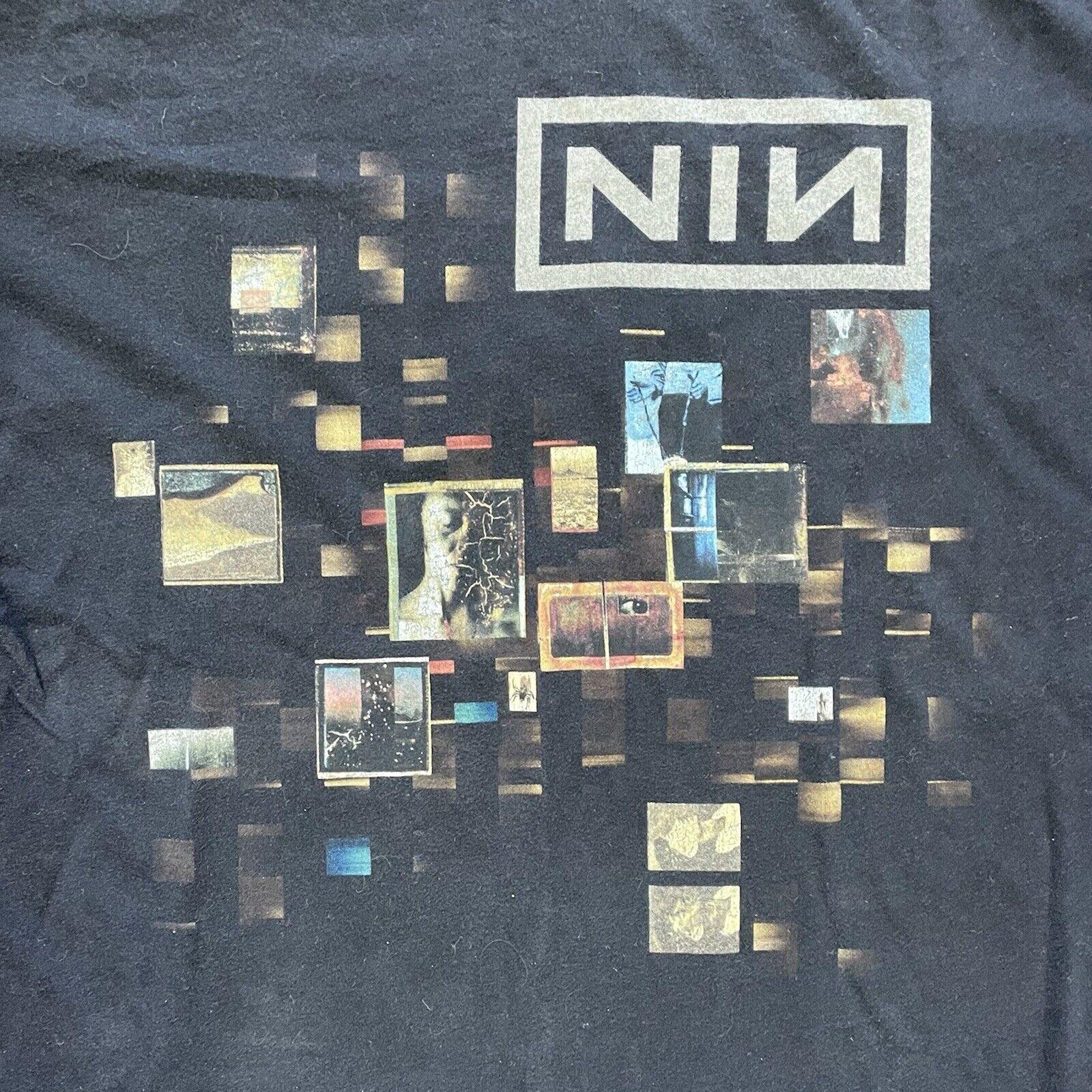 Nine Inch Nails NIN Box Logo Concert Tour Double … - image 1