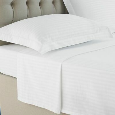 300TC 100/% Egyptian Cotton Flat Sheet Single Double King Super King STRIPE