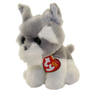 Ty Beanie Baby 6 Harper Grey Dog Plush Stuffed Animal W Mwmt S