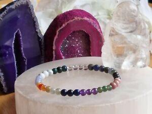 HIGH BLOOD PRESSURE & CHOLESTEROL CONTROL - CRYSTAL HEALING  BRACELET 4mm beads