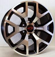 20 Inch Chevy Black And Machined Wheels Rims Sierra Z71 Silverado Tahoe