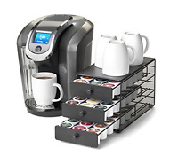 Sliding Drawer 3 Tier Storage Organizer Coffee Pod Holds 54 K-cup Packs Holder