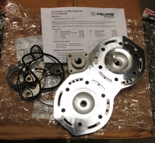 COMPLETE POLARIS 92 OCTANE CYLINDER HEAD KIT PART NUMBER 2202188 W// INSTRUCTIONS