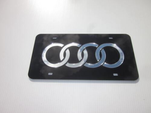 AUDI Acrlic Mirror License Plate Auto Tag nice