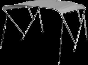Pactrade-Marine-Boat-3-Bow-Bimini-Top-Canopy-Cover-UV-Waterproof-Grey-Pigment