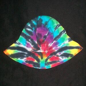 7de4336b1 Details about Tie Dye Toddler Floppy Bucket Sun Hat Rainbow Spider Hand Tye  Dyed Hippie Kid