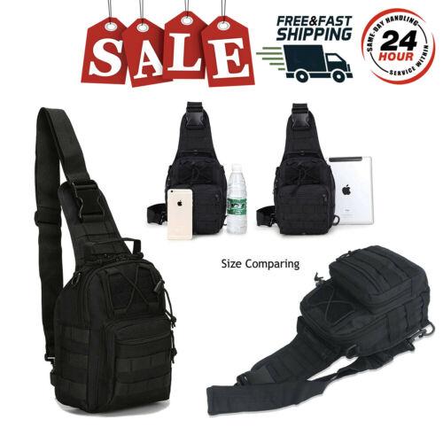 Tactical Sling Bag Military Backpack Pack Rover Small Shoulder Sling Molle Black