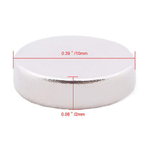 1-100Pcs Super Strong Powerful N35 Neodymium Disc Rare Earth Small Fridge Magnet