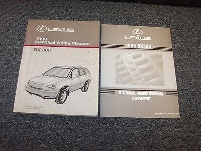 1999 Lexus Rx300 Suv Factory Electrical Wiring Diagram Manual Set 3 0l V6 Ebay