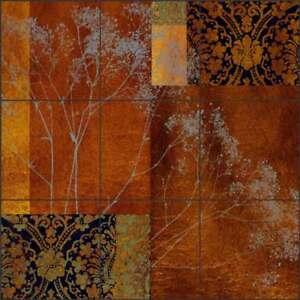 Tile-Mural-Backsplash-Ceramic-Montillio-Baby-039-s-Breath-Floral-Art-OB-LM83a