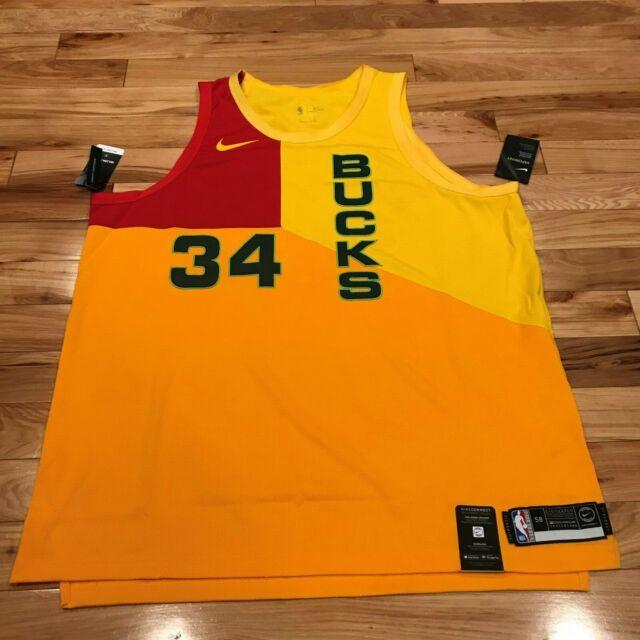 timeless design 71e0f 3c054 Nike 3xl Milwaukee Bucks Giannis Antetokounmpo City Jersey ...