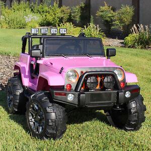 ride on car 12v kids power wheels jeep truck remote. Black Bedroom Furniture Sets. Home Design Ideas
