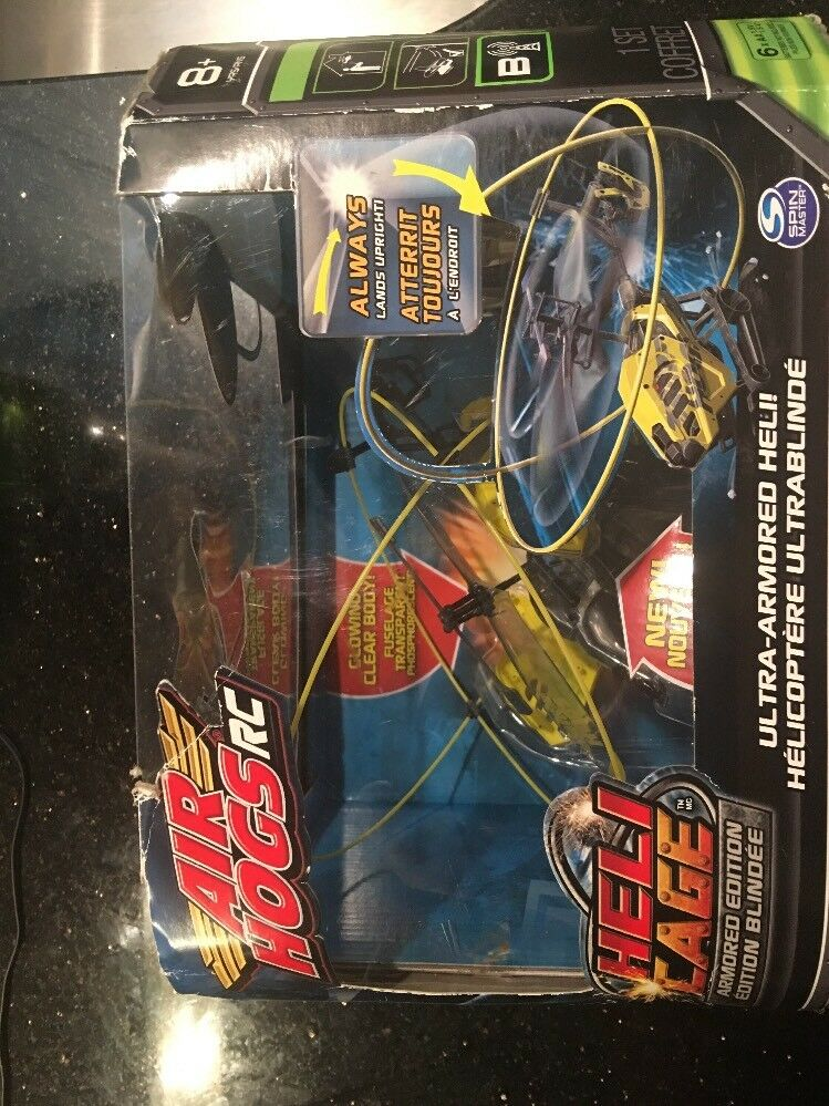 Air Hogs Hogs Hogs Heli Cage Remote Control Ultra-Armored Helicopter- Yellow New eafaab