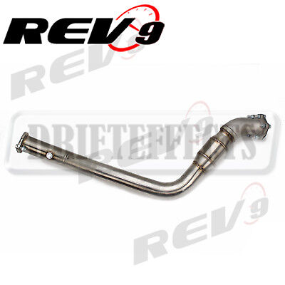 """High Flow Cat 3/"""" Cast BellMouth Turbo Downpipe Stainless Steel For WRX//STI 02-07"""