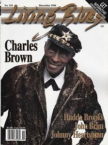 LIVING BLUES MAGAZINE NUMBER 118 DEC 1994 CHARLES BROWN HADDA BROOKS JOHN BRIM