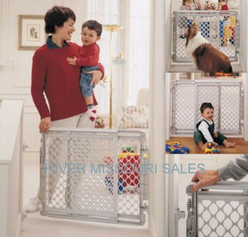 Heavy Duty Security North States Plastic Stairway Baby Safety Gate Or Pet Gate