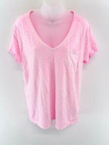 Linea-donna-Superdry-t-shirt-top-L-Large-Rosa-Cotone-amp-Poliestere