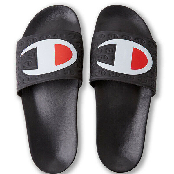 Champion Multilido Slides Men's Beach shoes Black New 2019