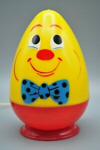 Vintage Plastic Yellow Face Egg Bulb Plug In Table Lamp 1950 S Rare Ebay