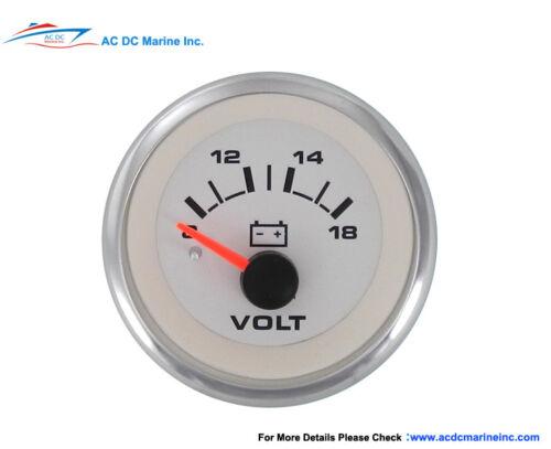 White Premier #62555P Sierra Marine 12V Voltmeter  Gauge 8-18V