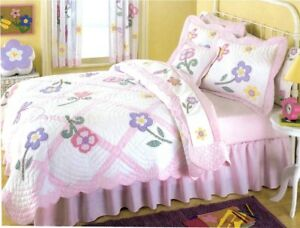 New-Dragonfly-Flower-Girls-Kids-Bedding-Quilt-Sham-Curtains-Sheet-Set-Twin