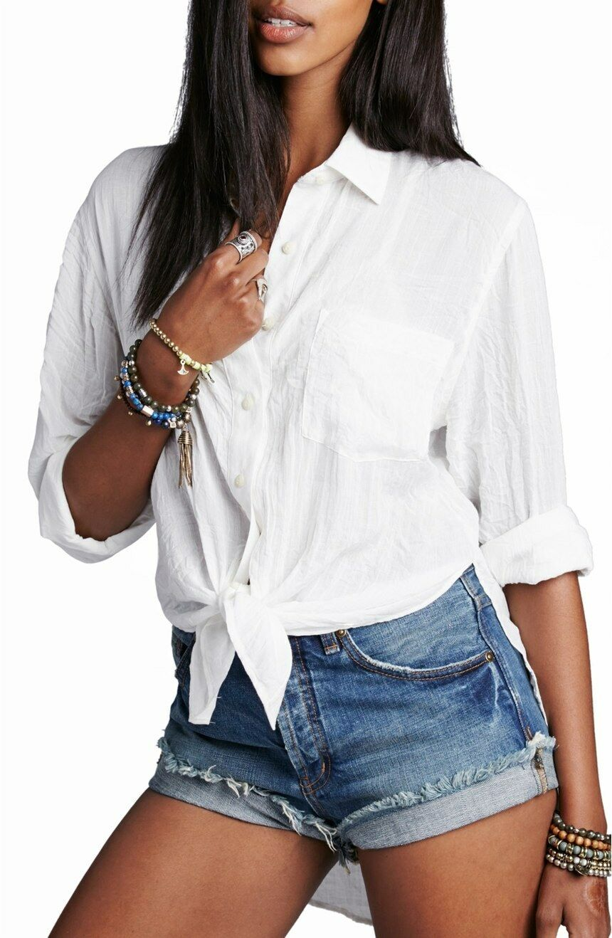 NWT Free People 'That's a Wrap' Shirt Retail