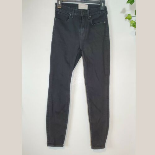 Everlane high rise skinny jeans black