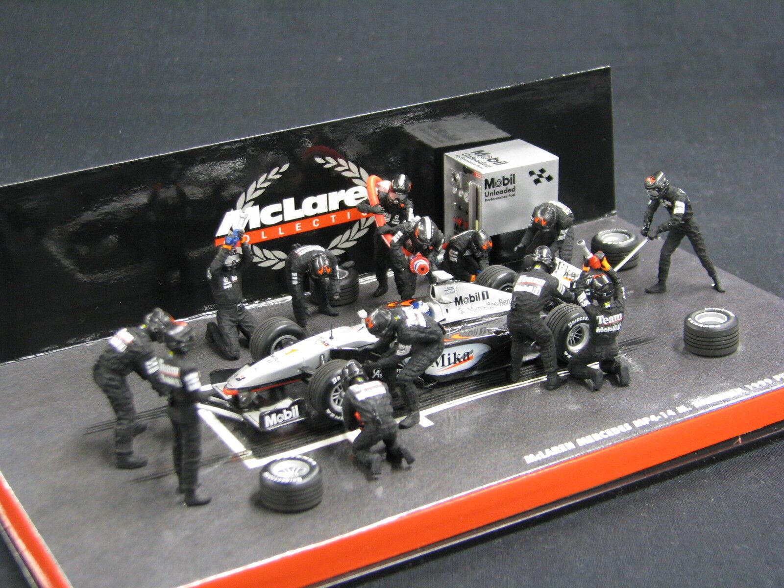 Minichamps McLaren Mercedes Mercedes MP4 14 1999 1 43  1 Mika Hakkinen Pit (JS)